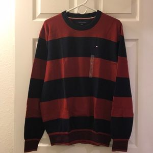 Tommy Hilfiger Men Crew V-neck Pullover Sweater
